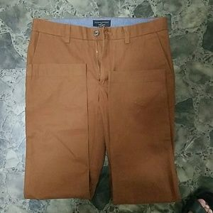 Mens banana republic dark brown chinos slim fit